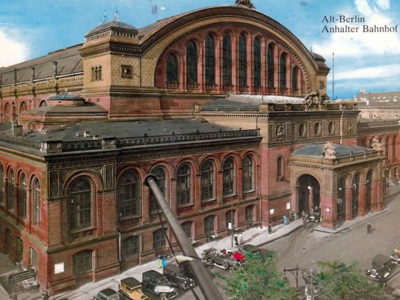 Berlin, Anhalter Bahnhof, alte Postkarte