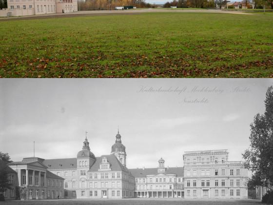 Schlossberg Neustrelitz Vergleich heute 1910 Stadtbild MST fb 25.01.2018