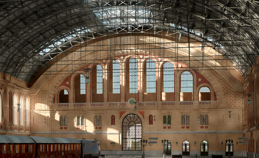 Berlin, Anhalter Bahnhof, Bahnsteighalle