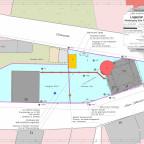 Lageplan mit eingezeichneten Brunnenfund