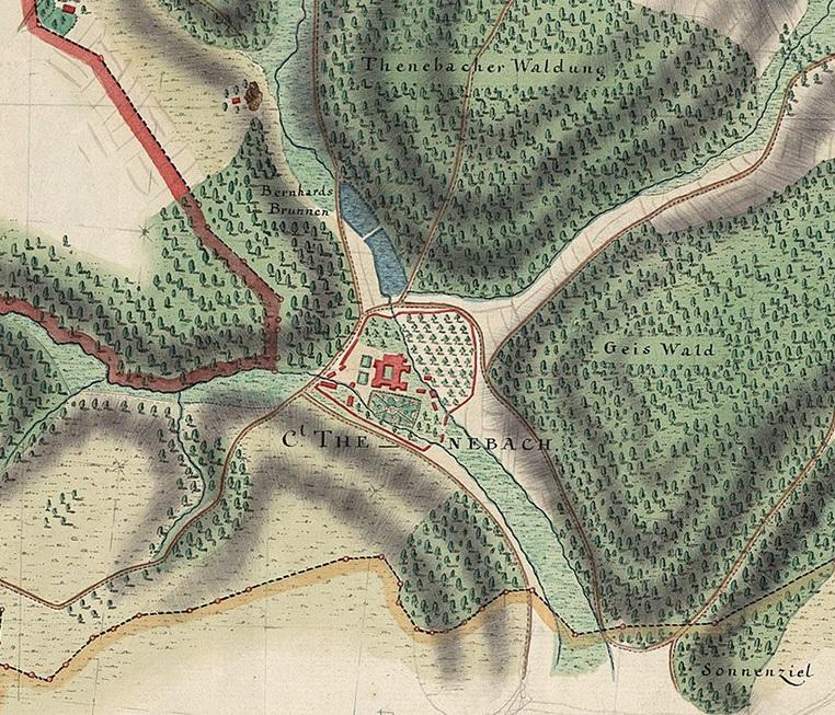 Tennenbach (ehem. Zisterzienserabtei), Plan 1763/64