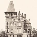 Villa Raussendorff, Gartenansicht 1894, Rückwardt
