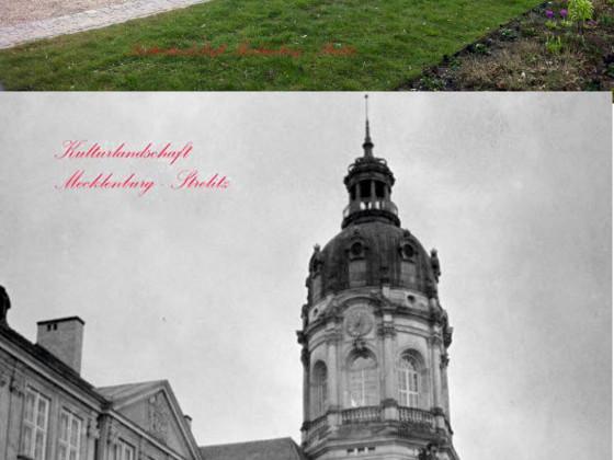 Schloss Neustrelitz Bildvergleich 1910 vs. 2017 Stadtbild Mecklenburg-Strelitz Parkansicht Schlossturm