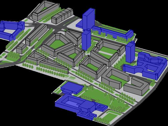 Innenstadt Isometrie 2 (Groß)