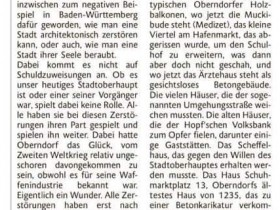 Lesermeinung Stadtbild Oberndorf