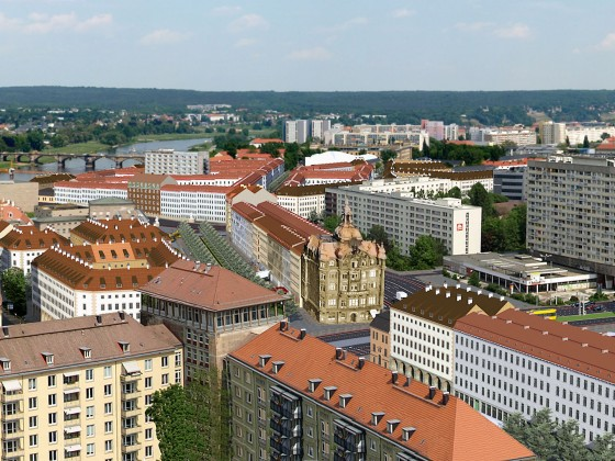Rathausturm auf Moritzring