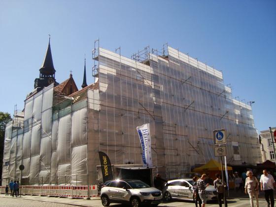 Güstrow Rathaus Juni 2017 Sanierung