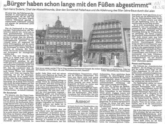 Pellerhaus Zeitungsartikel