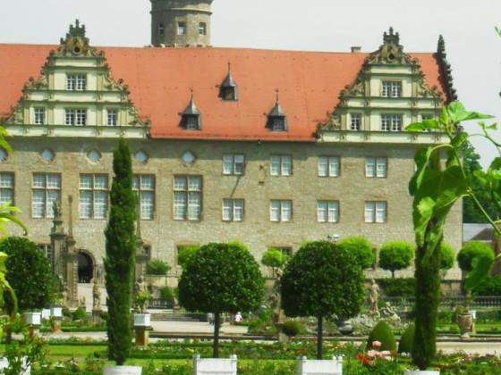 Nachbarstadt Weikersheim mit Hohnlohe-Schloss und Park mit Orangerie