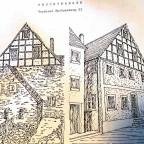 Architekturskizze ( Stadtseite und Feldseite )