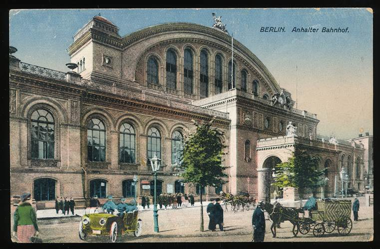 Anhalter Bahnhof coloriert