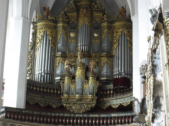 Orgel von St. Nikolai Luckau ( 1674 Donat, Leipzig )