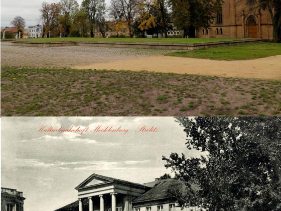 Kavalierhaus Ost Neustrelitz 1910 vs. heute Stadtbild Mecklenburg-Strelitz