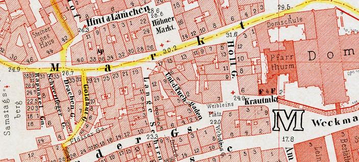 Frankfurt Ravensteinplan 1862, Markt