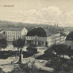 Neustrelitz Markt 1917 Schloss Hintergrund