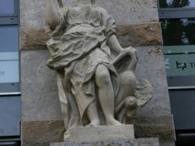 Leipzig-Altstadt Figur vom Jöcherschen Haus Markt 2