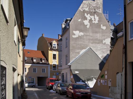 Abgebrochens Uhrmacherhäusl in München-Giesing