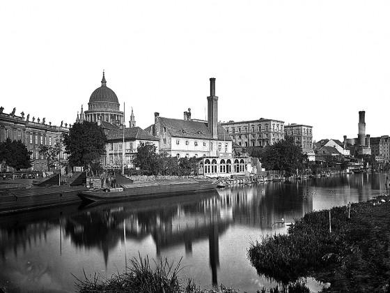 Potsdam Havelufer Alte Fahrt 1880 - PotsdamWiki - Urheberrecht abgelaufen - gemeinfrei