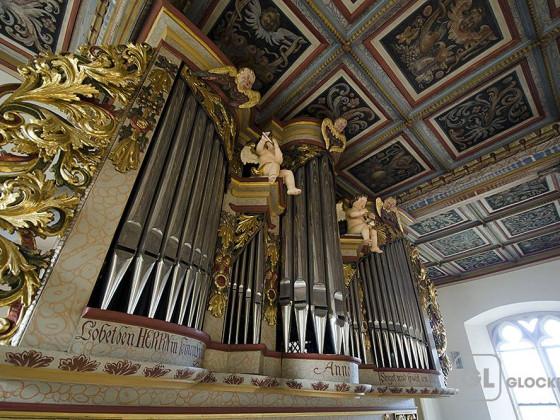 Orgel der Pfarrkirche Küps/Kronach ( Prospekt Wiegleb 1725 )