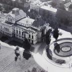 Stadttheater Rostock Luftbild vor 1942 Steintor-Platz