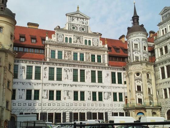 Westfluegel grosser Schlosshof