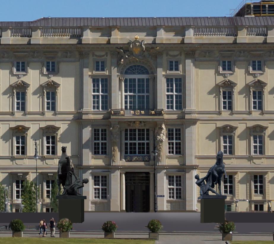 Alternative Rossebändiger vor dem Berliner Schloss